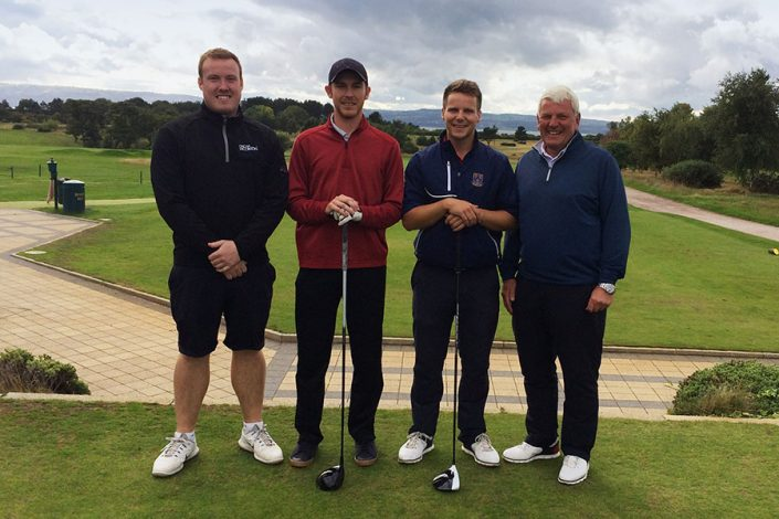 Tom Hunter & Dom Barnes at the 1st Tee