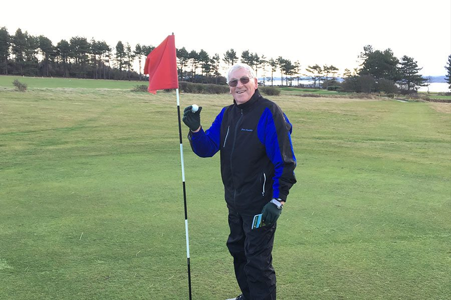 Peter Crutchley enjoys Hole in One